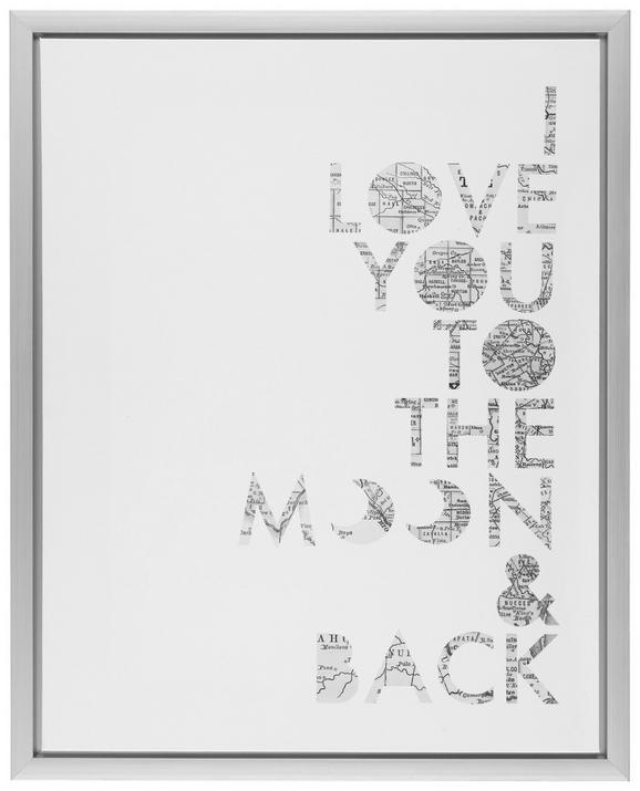 Slika Na Platnu Wording - bela/srebrna, umetna masa/les (40/50/2,5cm) - Mömax modern living