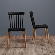 Stuhl Celine - Buchefarben/Schwarz, MODERN, Holz/Kunststoff (43,5/82/51,5cm) - Modern Living