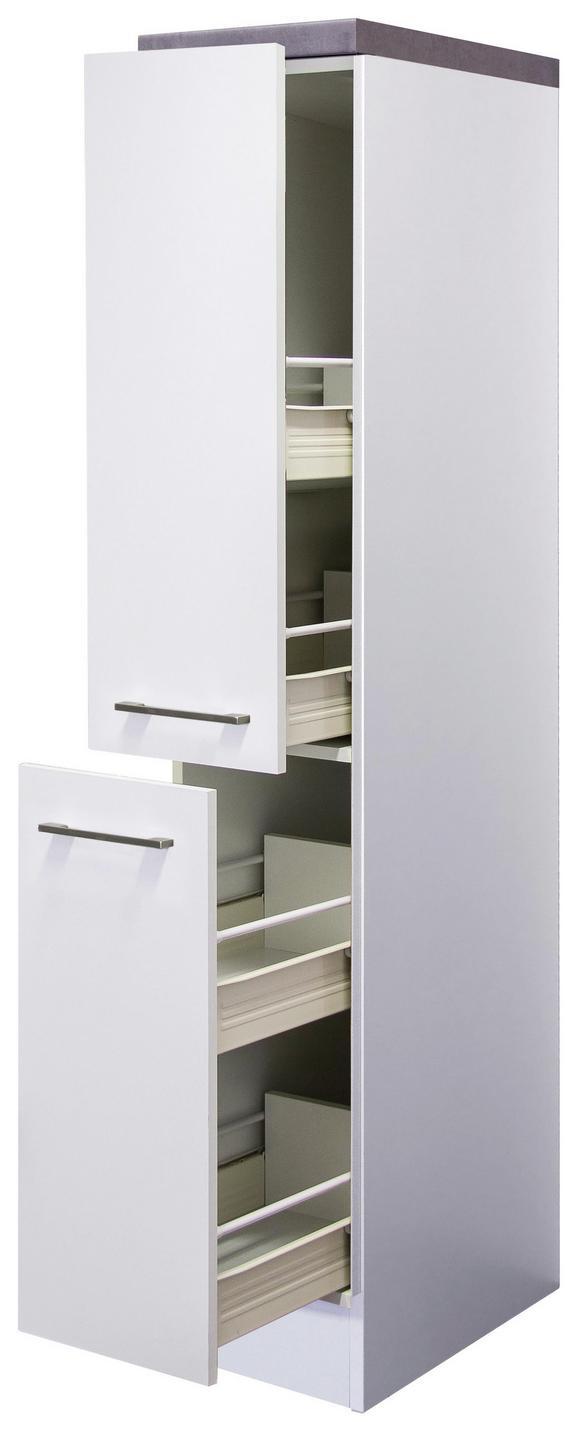 Izvlečna Omara Neo - bela/nerjaveče jeklo, Moderno, kovina/leseni material (30/162/57cm)