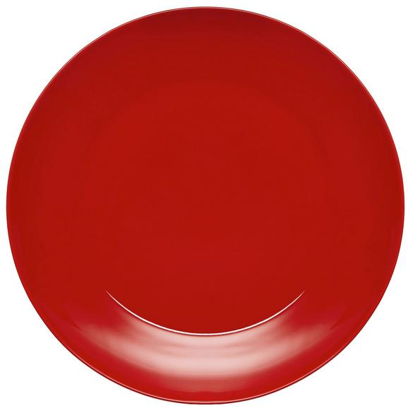 Plitvi Krožnik Sandy - rdeča, Konvencionalno, keramika (26,8/2,42cm) - MÖMAX modern living
