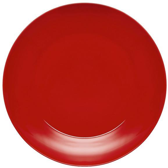 Speiseteller Sandy in Rot aus Keramik - Rot, KONVENTIONELL, Keramik (26,8/2,42cm) - Mömax modern living
