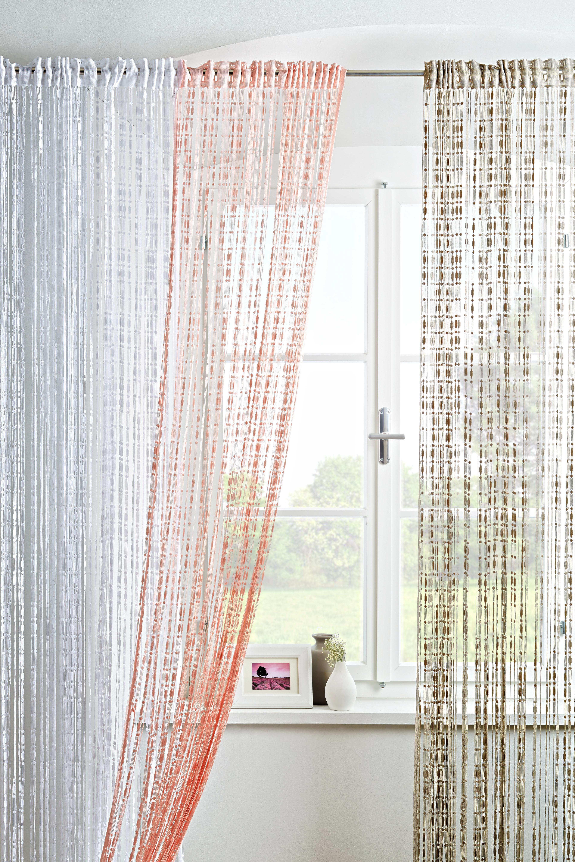 Zsinórfüggöny Tom - szürke, romantikus/Landhaus, textil (95/240cm) - MÖMAX modern living
