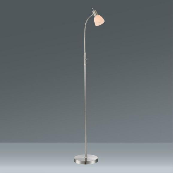 Stoječa Svetilka Albert - bela, Konvencionalno, kovina/steklo (146cm)