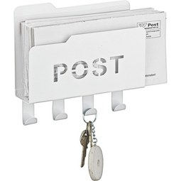 Briefablage aus Metall in Weiß - Weiß, Metall (20/5,1/18,8cm) - Mömax modern living