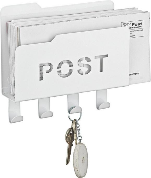 Levéltartó Post -sb- - fehér, fém (20/5,1/18,8cm) - MÖMAX modern living