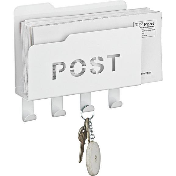 Pisemski Odlagalnik Post - bela, kovina (20/5,1/18,8cm) - Mömax modern living