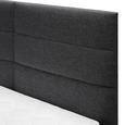 Boxspringbett in Grau ca. 180x 200 cm inkl. Topper 'Lisa' - Dunkelgrau, MODERN, Holz/Textil (205/186/103cm) - Bessagi Home