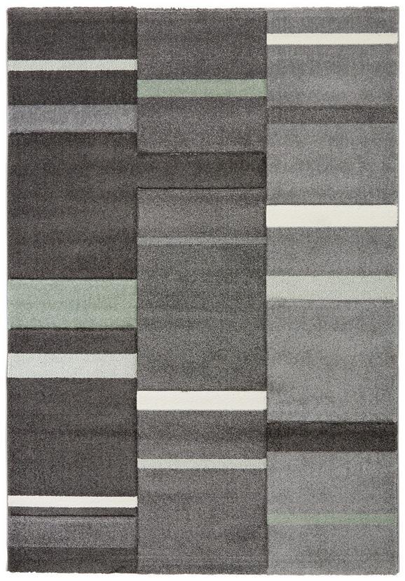 Tkana Preproga Sofia 1 - siva/zelena, tekstil (80/150cm) - Mömax modern living