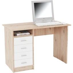 Pisalna Miza Verona - aluminij/bela, Moderno, umetna masa/leseni material (105/74/50,5cm)