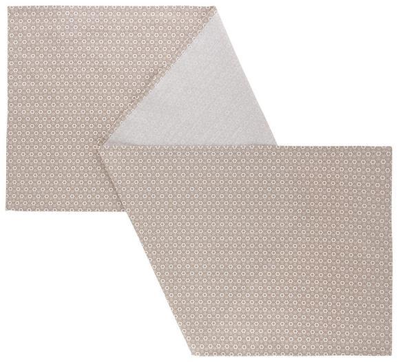 Tischläufer Ameline Taupe 45x150cm - Taupe, ROMANTIK / LANDHAUS, Textil (45/150cm) - Zandiara
