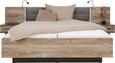 Bettanlage Grau/Kiefer 180x200cm - Dunkelgrau/Kieferfarben, LIFESTYLE, Holzwerkstoff/Kunststoff (304,6/208,7/58,5cm) - Modern Living