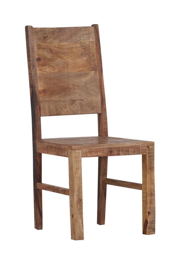 Stuhl in Naturfarben Massiv - Naturfarben, LIFESTYLE, Holz (45/100/52cm) - Zandiara
