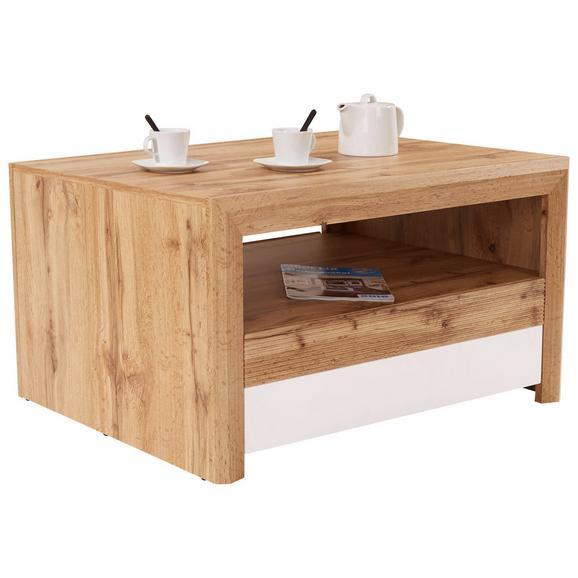 Klubska Miza Kashmir New - bela/hrast, Moderno, leseni material (100/50/69cm) - Zandiara