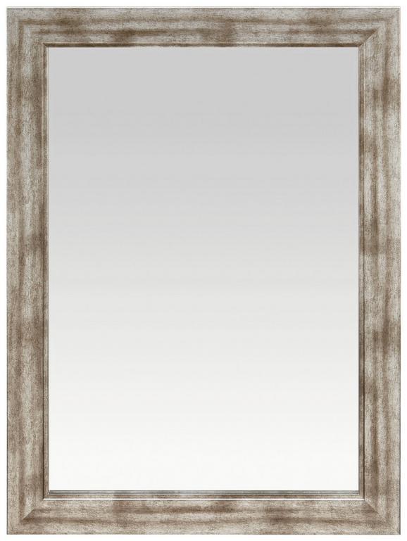 Fali Tükör Metallic - Nikkel/Ezüst, Faalapú anyag (50/70cm)