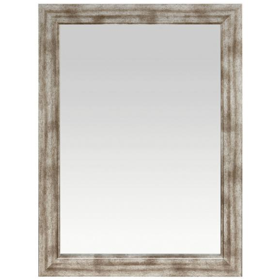 Stensko Ogledalo Metallic   -sb- - srebrna/nikelj, leseni material (50/70cm)