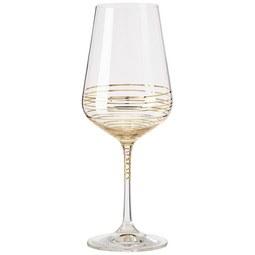Rotweinglas Elegance ca. 550ml - Klar/Goldfarben, MODERN, Glas (0,55l) - Bohemia