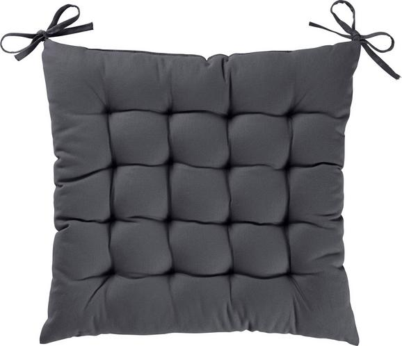 Sitzkissen Kim 40x40cm - Dunkelgrau, KONVENTIONELL, Textil (40/40/5cm) - MÖMAX modern living