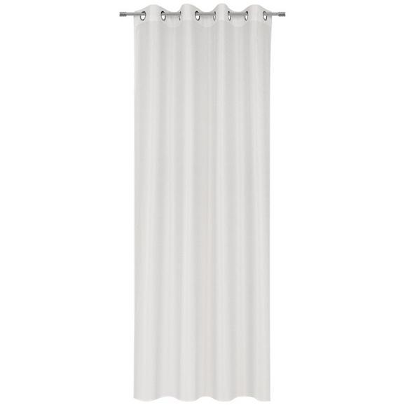 Ösenvorhang Iceland in Weiß - Weiß, Textil (140/245cm) - Mömax modern living