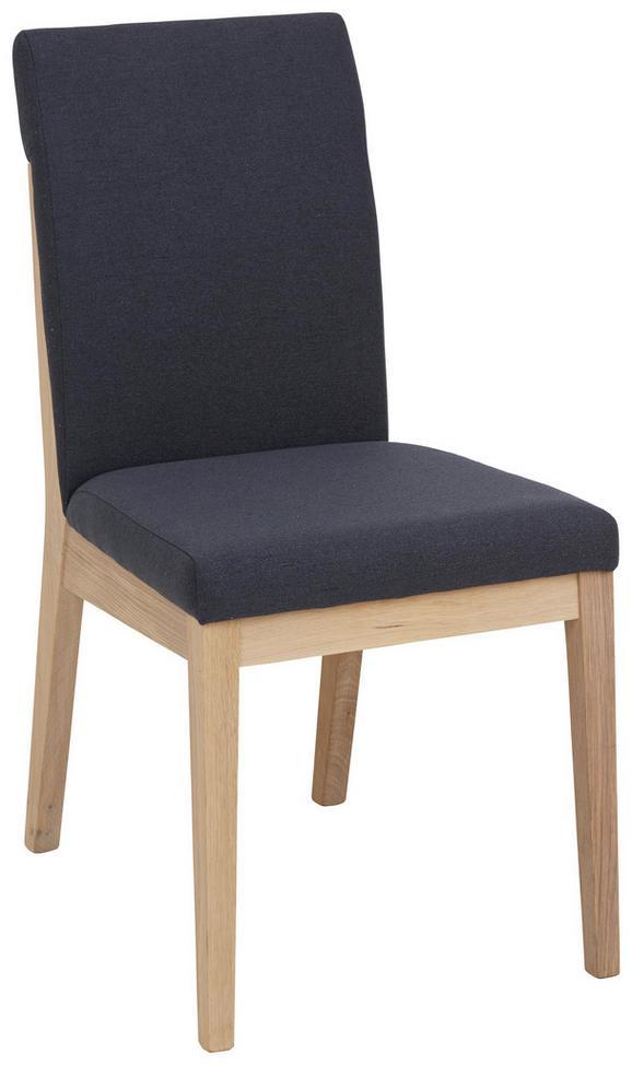 Stuhl in Anthrazit - Eichefarben/Anthrazit, KONVENTIONELL, Holz (49/91/65cm) - Zandiara