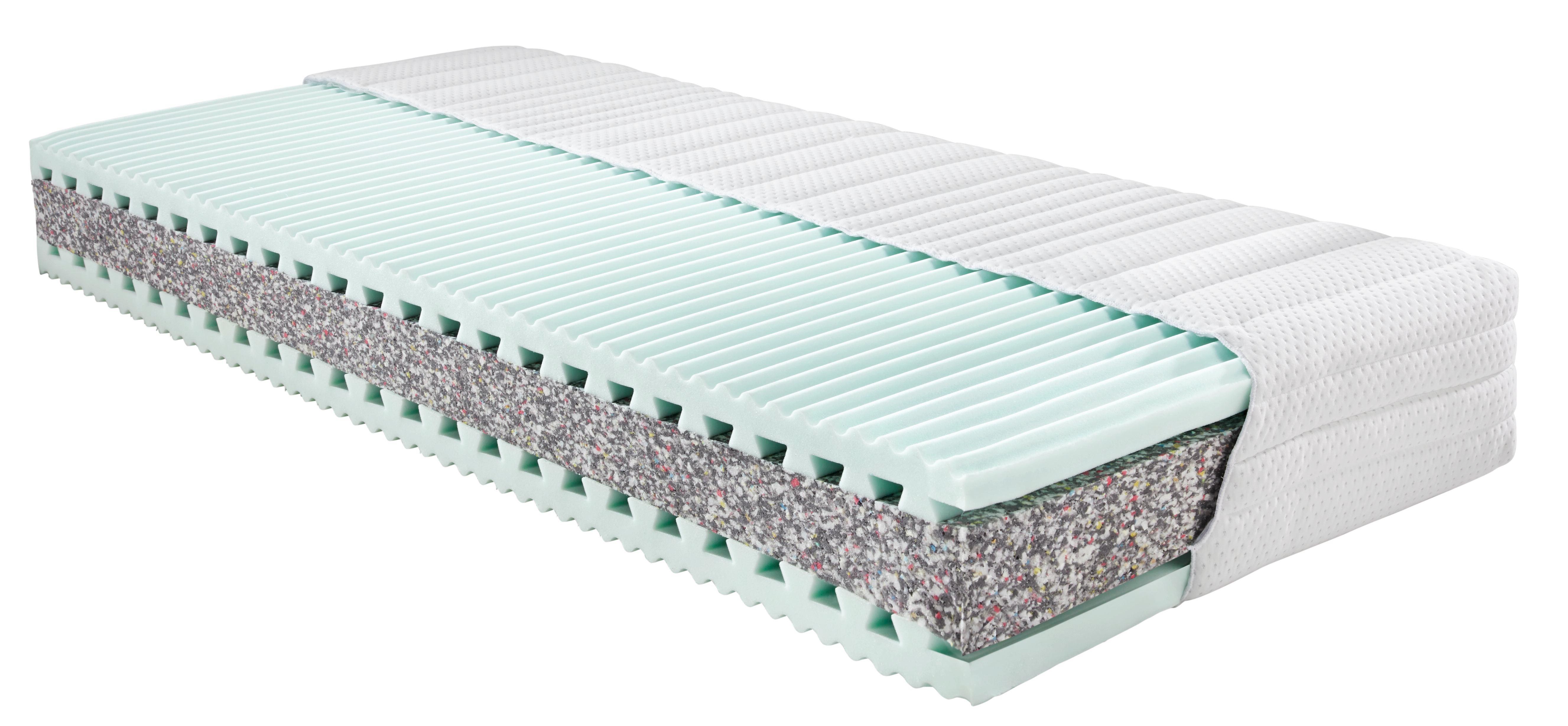 Komfortschaummatratze ca. 120x200cm - Weiß, Textil (200/120/25cm) - NADANA