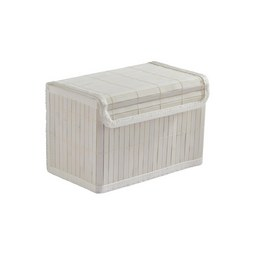 Korb Bamboo White   Weiß, Holz (22/15/16cm)   Mömax