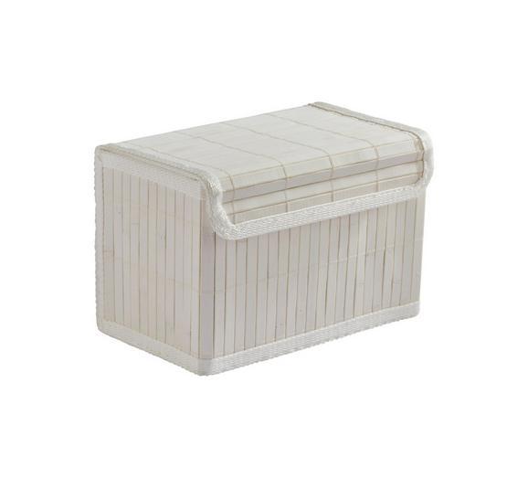 Košara Bamboo White - bela, tekstil/les (22/15/16cm) - Mömax modern living