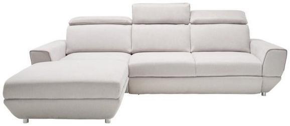 Sedežna Garnitura Bueno - siva/krom, Moderno, umetna masa/tekstil (197-290/89-104/103cm) - Modern Living