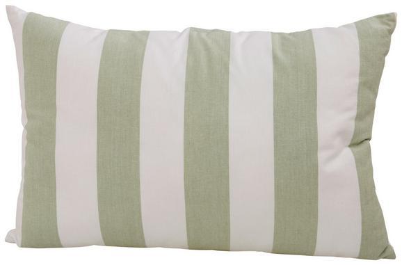 Zierkissen Blockstreif Weiß/hellgrün - Hellgrün/Weiß, Textil (40/60cm) - Mömax modern living