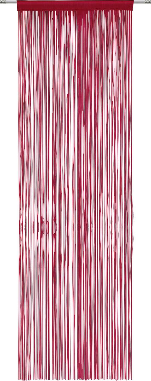Fadenstore Victoria in Rot, ca. 90x245cm - Rot, Textil (90/245cm) - MÖMAX modern living