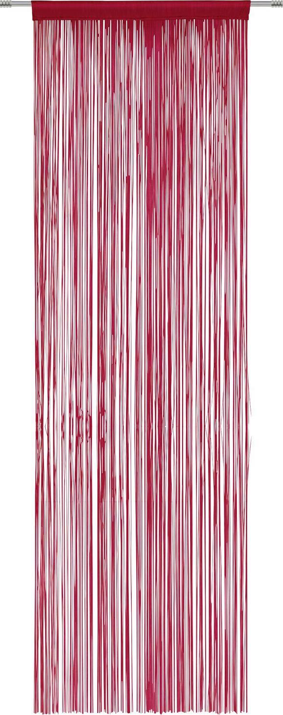 Nitasta Zavesa Victoria - rdeča, tekstil (90/245cm) - Mömax modern living