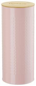 Vorratsdose Stella Rosa - Naturfarben/Rosa, ROMANTIK / LANDHAUS, Holz/Metall (11/27cm) - Zandiara