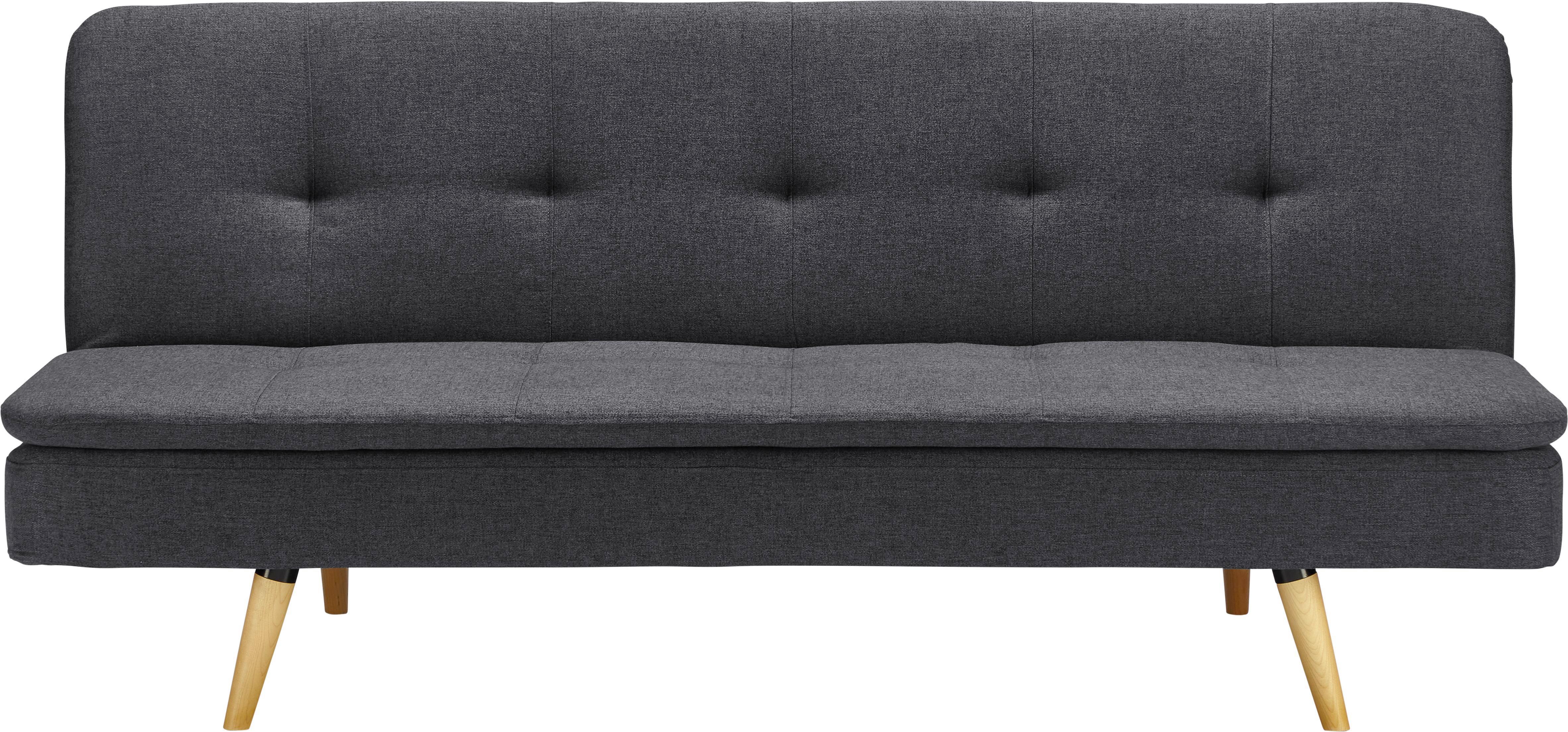 KANAPÉ PEGGY - sötétszürke/szürke, modern, textil/fa (179/79/85cm)