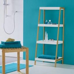 Regal Mirella - Buchefarben/Weiß, MODERN, Holz (44/110/37cm) - Modern Living