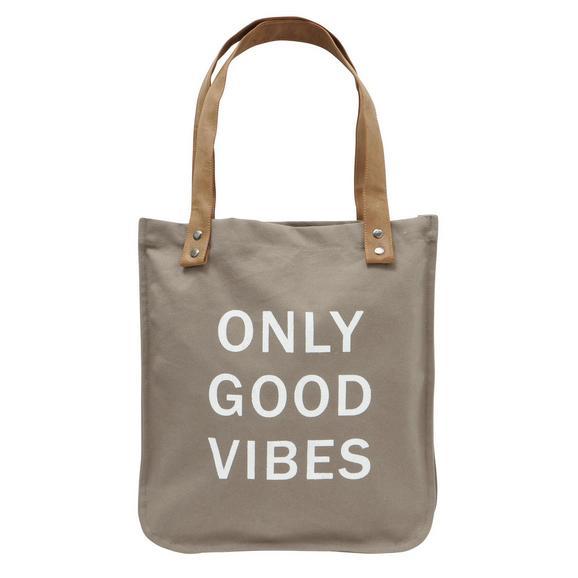Einkaufstasche Only Good Vibes in versch. Designs - Basics, Textil (36/39cm)