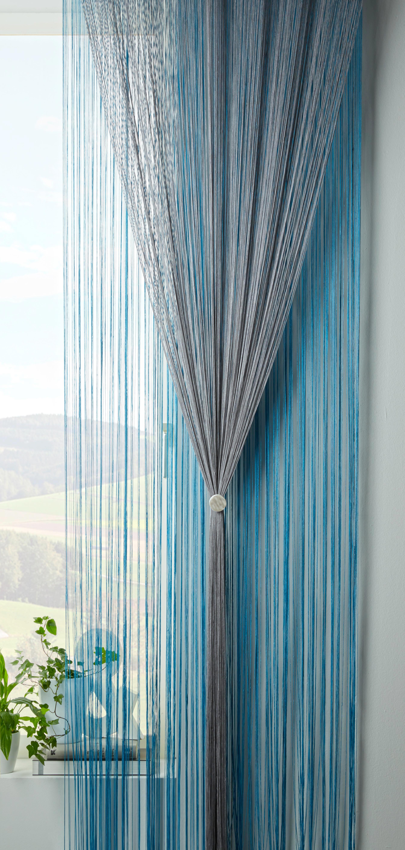 Zsinórfüggöny Victoria - ezüst színű, textil (90/245cm) - MÖMAX modern living