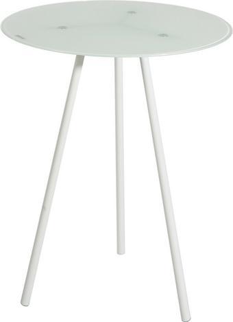 Kisasztal B154229-3 - Fehér, konvencionális, Üveg/Fém (40/50/40cm)