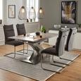 Nihajni stol PIA - antracit/nerjaveče jeklo, Moderno, kovina/tekstil (45/106/62cm) - Modern Living
