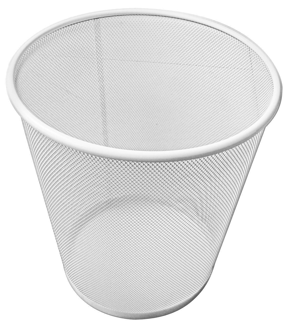 Szemetes Kosár Mesh - fehér, modern, fém (30,5/34,5cm)