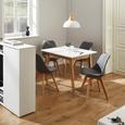 Esstisch in Weiß/Eichefarben ca.90x90cm 'Harry' - Weiß, MODERN, Holz (90/90/75cm) - Bessagi Home