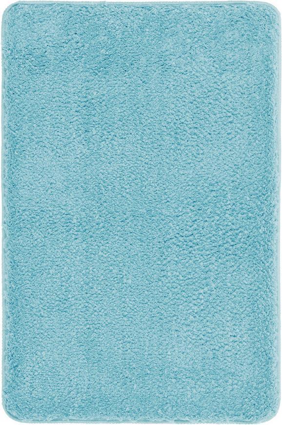 Fürdőszobaszőnyeg Christina - Világoskék, Textil (60/90cm) - Mömax modern living