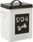 Box mit Deckel Dog Weiß/Schwarz - Schwarz/Weiß, ROMANTIK / LANDHAUS, Metall (18/15,5/23cm) - Mömax modern living