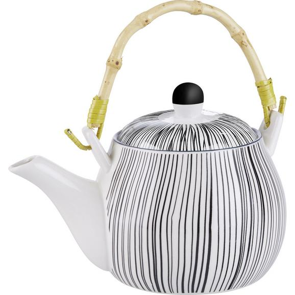 Ceainic Shiva - alb/negru, Lifestyle, ceramică (18/11cm) - Modern Living