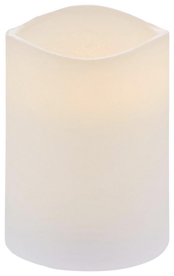 Kerze mit Led Leonie in Weiß - Weiß (7,5/10cm) - MÖMAX modern living