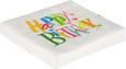 Serviette Birthday Dance Multicolor - Multicolor/Weiß, Papier (33/33cm)