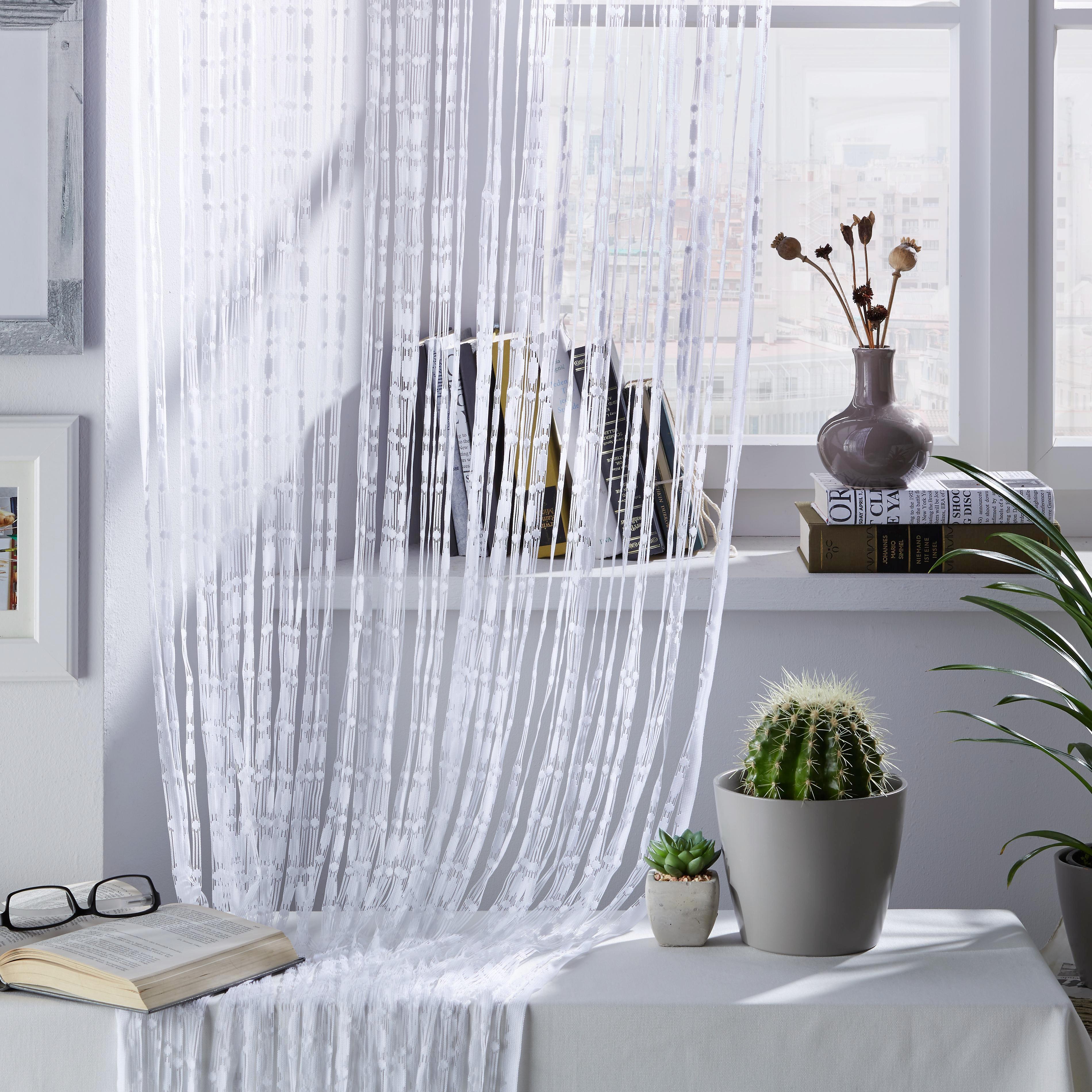 Fadenstore Trend in Weiß, ca. 95x240cm - Weiß, ROMANTIK / LANDHAUS, Textil (95/240cm) - MÖMAX modern living