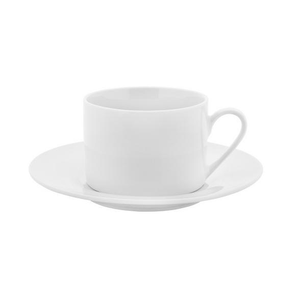Ceașcă De Cafea Cu Farfurioară Adria - alb, Konventionell, ceramică (15,8cm) - Modern Living