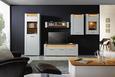 Vitrine Weiß/Eiche - Chromfarben/Eichefarben, MODERN, Glas/Holzwerkstoff (70/201/40cm) - Modern Living
