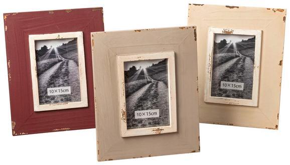 Okvir Za Slike Lilian - temno rdeča/bež, Romantika, les (21/1/26cm)