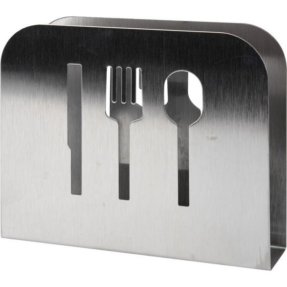 Serviettenhalter Carl Alufarben - Alufarben, KONVENTIONELL, Metall (15/12,5/4cm)