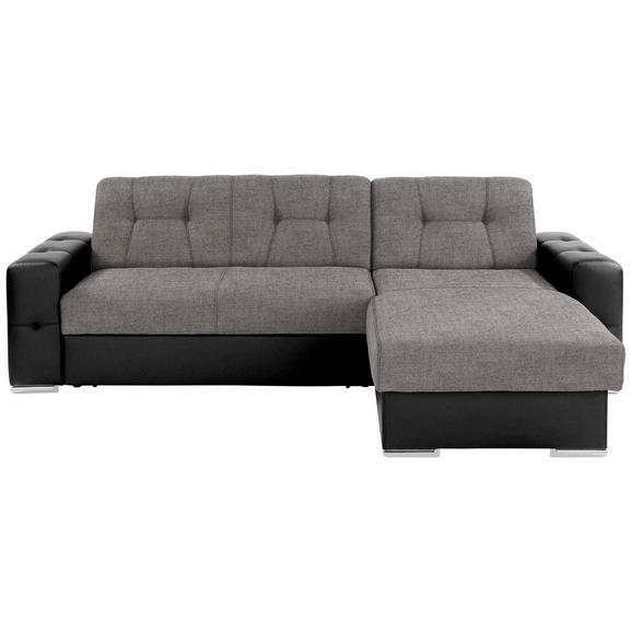 Sjedeća Garnitura Fulton - siva/boje kroma, Basics, plastika (260/160cm)